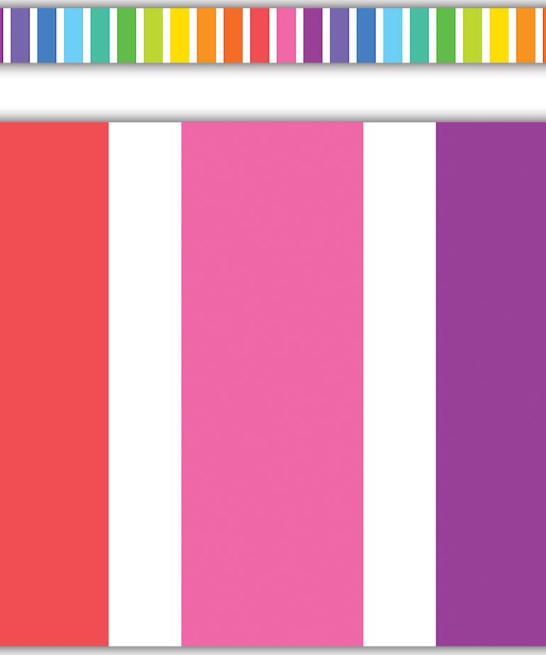 Colorful Stripes Straight Border