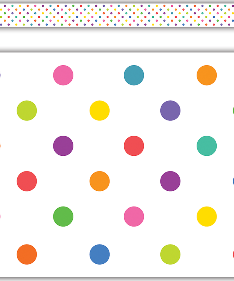 Colorful Dots Straight Border