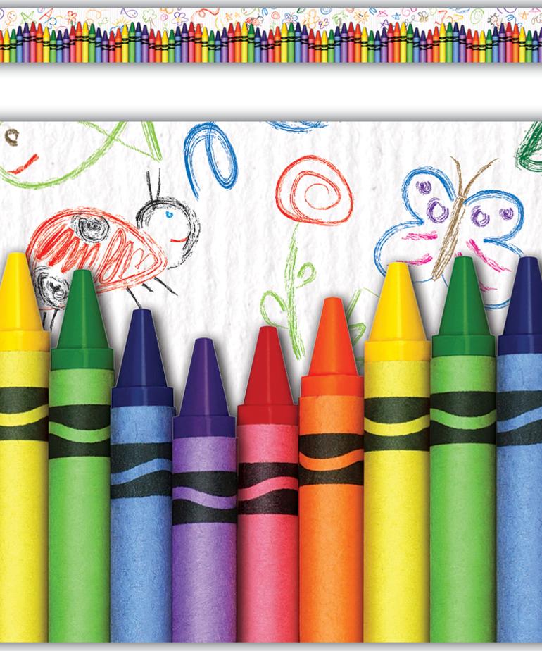 Crayons Straight Border