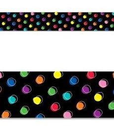 Doodle Dots On Black Border