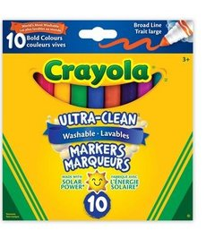 Crayola Ultra-Clean Classic Colors Broad Line 10pk