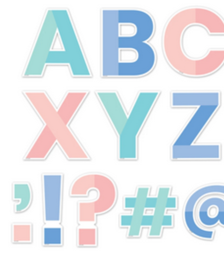Color Block Designer Letters