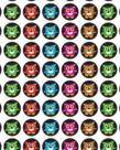 Bright Owls Super Spots Stickers