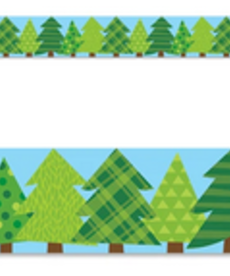 Patterned Pines Straight Border