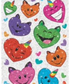 Uni-Cats Hearts Stickers