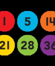 Floor Markers Numbers 1-36