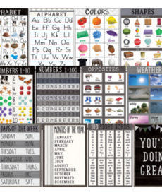Modern Farmhouse Early Learning Poster Set