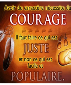 Courage-French Poster