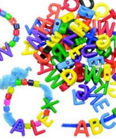 Manuscript Letter Beads 288pk