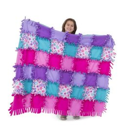 Melissa & Doug Created by Me- Flower Fleece Quilt