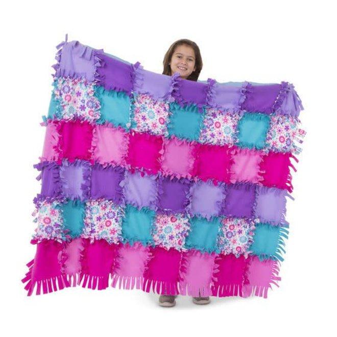 Melissa & Doug Created by Me- Flower Fleece Quilt