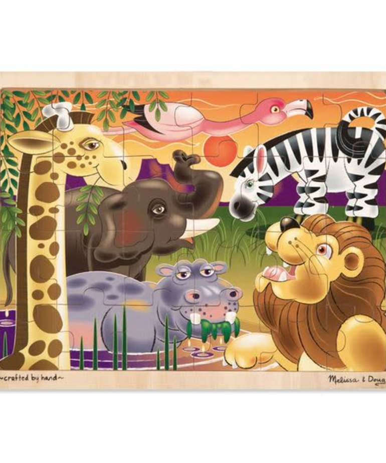Melissa & Doug African Plains Jigsaw(24 PC)