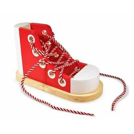 Melissa & Doug Wooden Lacing Shoe