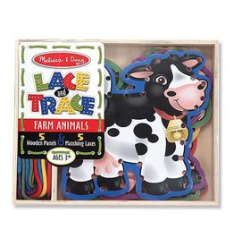 Melissa & Doug Wooden Panels and Laces- Farm Animals