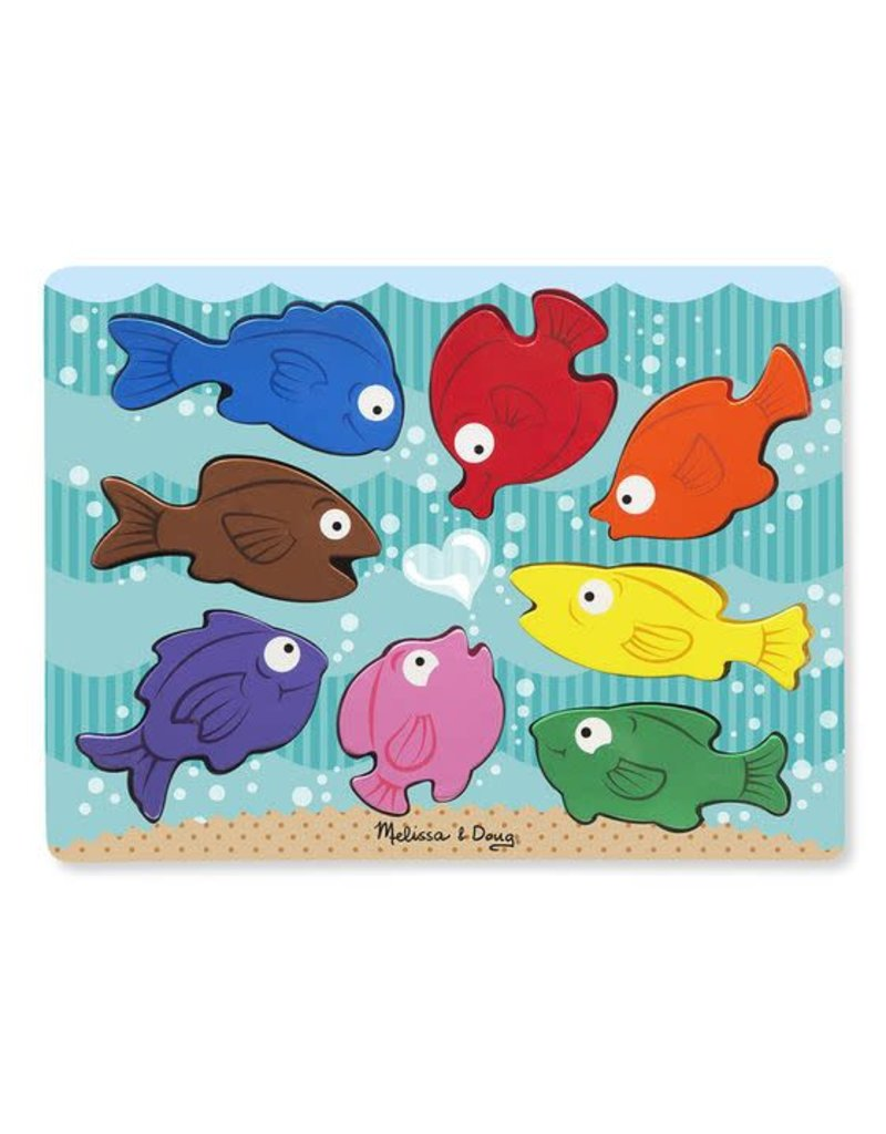Melissa & Doug Wooden Chunky Puzzle- Colorful Fish