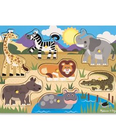 Melissa & Doug Wooden Peg Puzzle- Safari