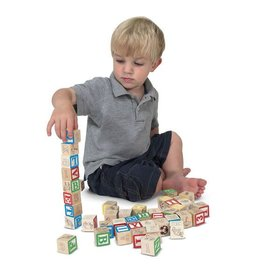 Melissa & Doug Wooden ABC/123 Nesting Blocks