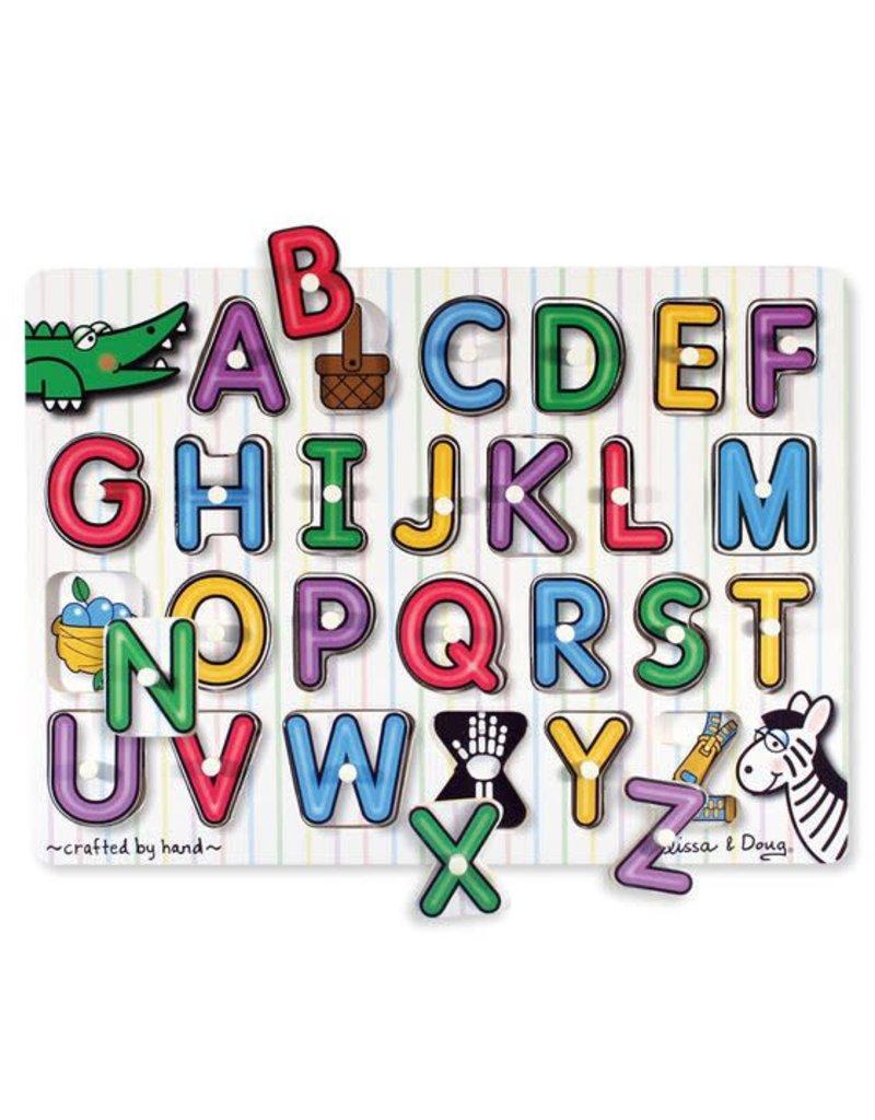 Melissa & Doug Lift & See Alphabet Peg Puzzle