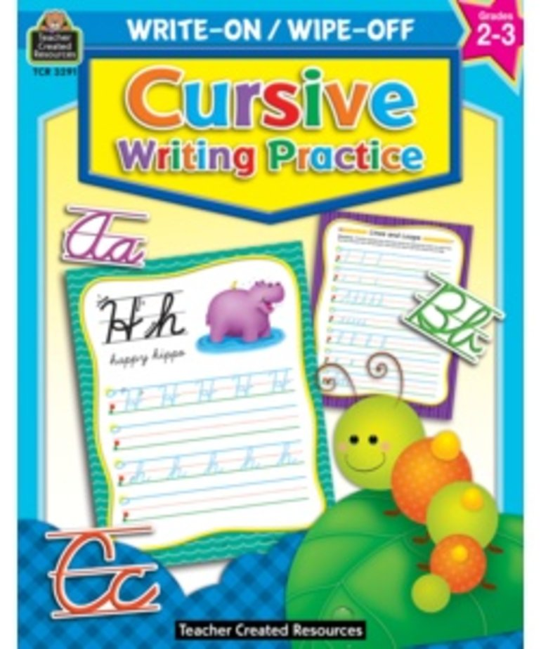 Cursive Writing Practice Write On/Wipe Off