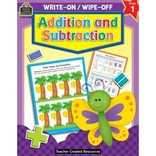 Addition and Subtraction Write-on Wipe-Off Book