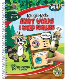 Ranger Rick Power Pen Learning Book-Sight Words/Word Families