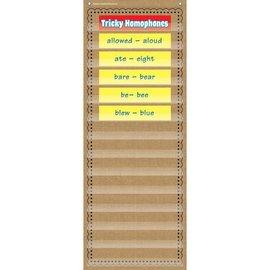 Burlap 14 Pocket Chart