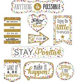 Confetti Clingy Thingies Confetti Positive Sayings Accents