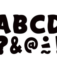 Clingy Thingies Black Funtastic Letters