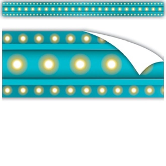 Marquee Clingy Thingies Light Blue Marquee Straight Borders