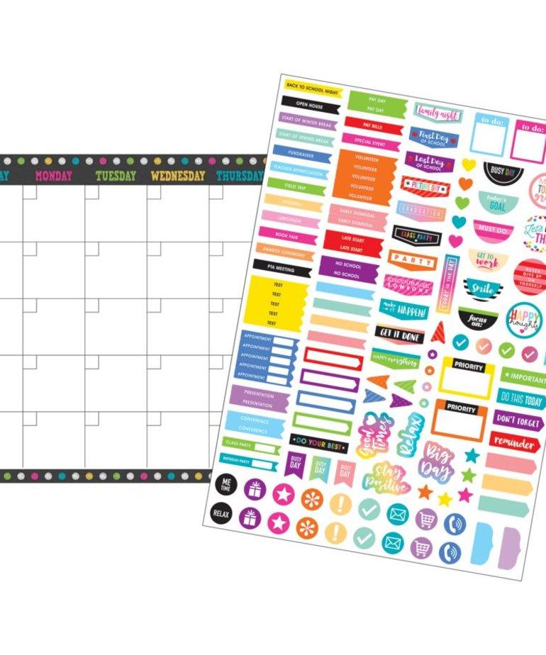 Clingy Thingies Chalkboard Brights Calendar Set
