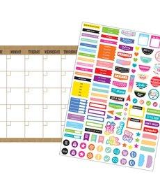 Clingy Thingies Burlap Calendar Set