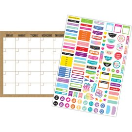 Shabby Chic Clingy Thingies Burlap Calendar Set