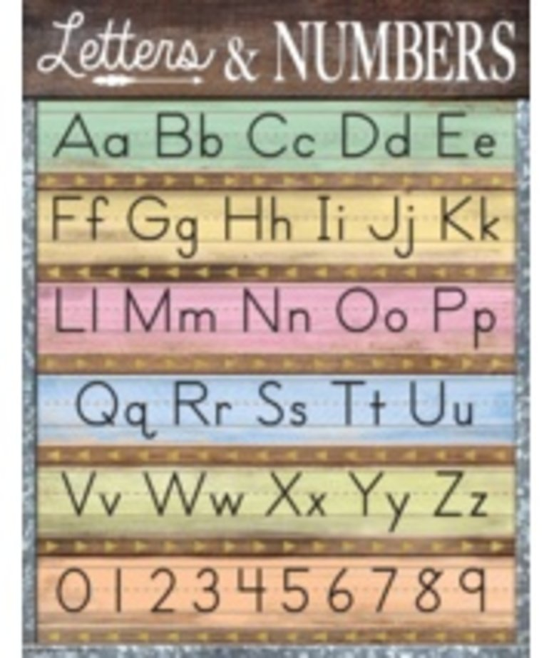 Letters & Numbers Chart