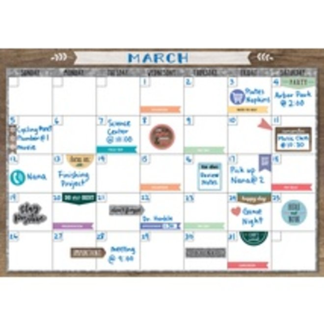 Home Sweet Classroom Clingy Thingies Calendar Set