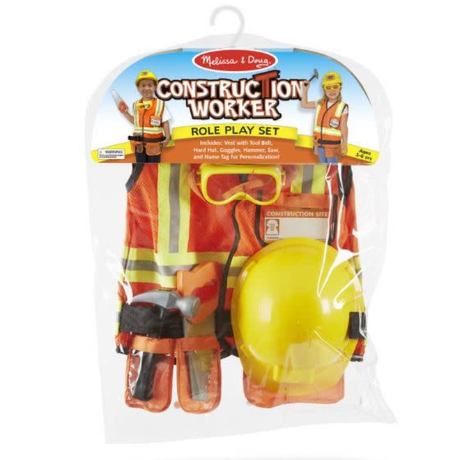 Melissa & Doug Construction Worker Role Play Set