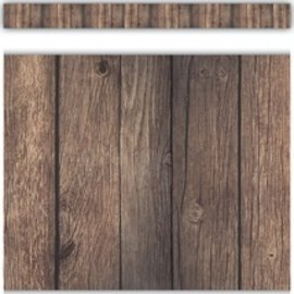 Home Sweet Classroom Dark Wood Straight Border Trim
