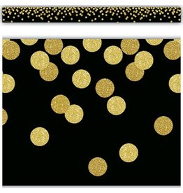 Confetti Black Confetti Straight Border Trim