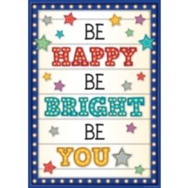 Marquee Be Happy Be Bright Be You-Poster