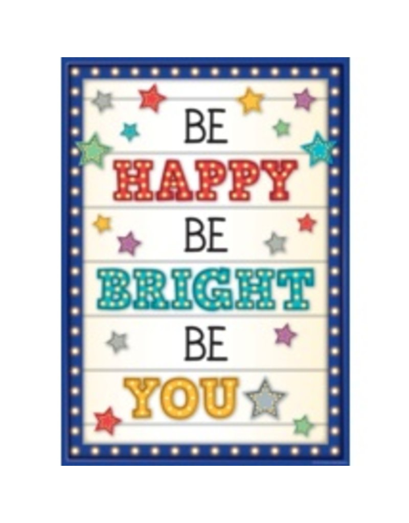 Marquee Be Happy Be Bright Be You...poster