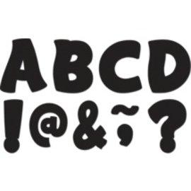 "Black Funtastic Font 3"" Magnetic Letters"