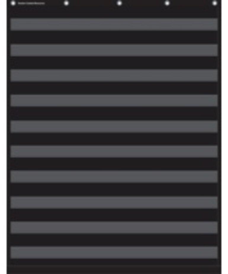 Black 10 Pocket Chart