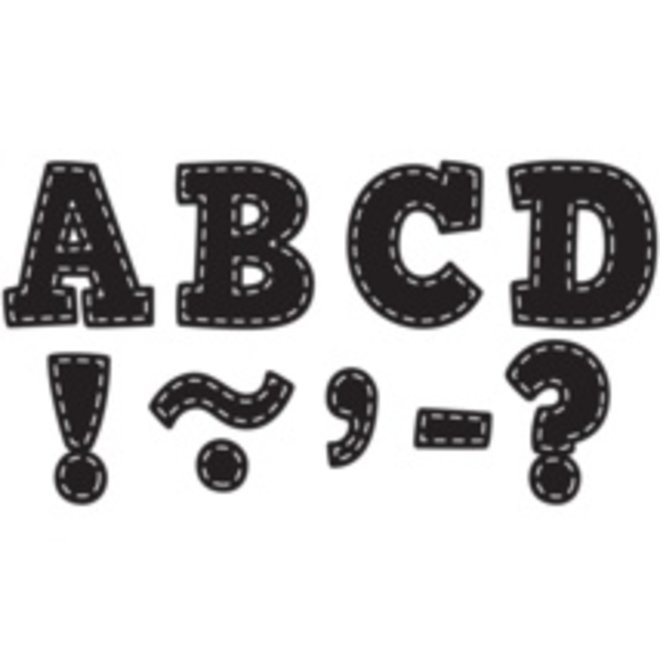 "Black Stitch Bold Block 3"" Magnetic Letters"