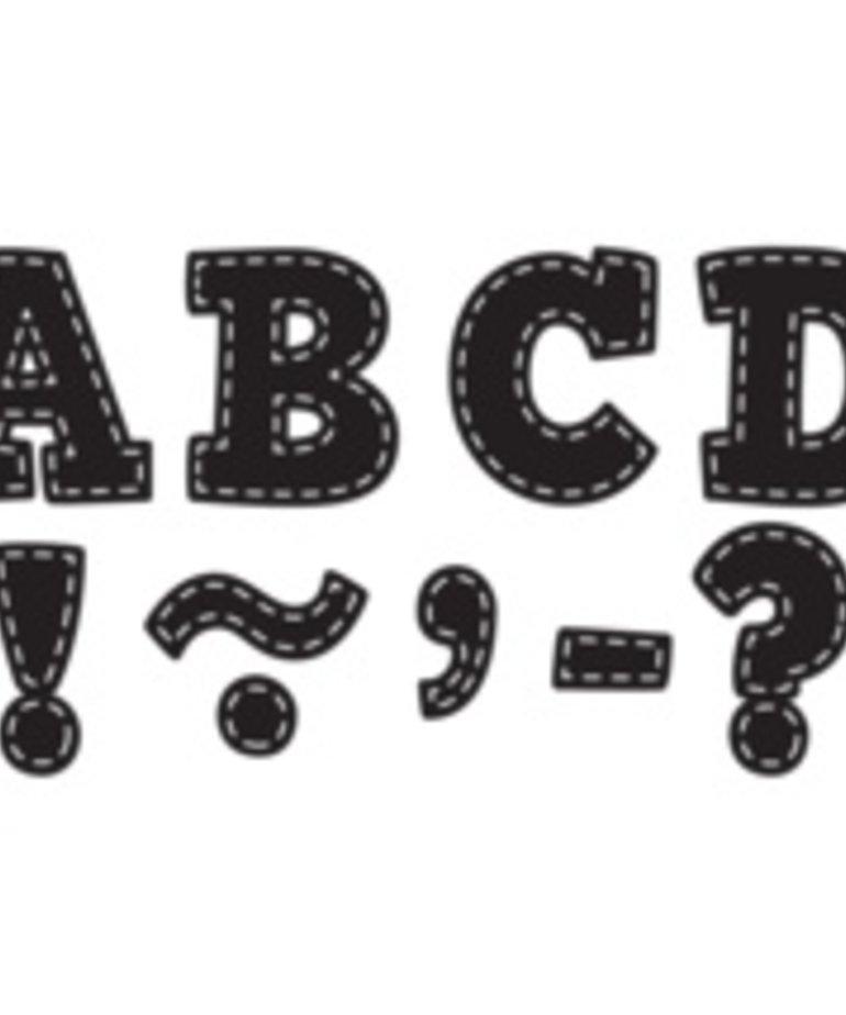 "Black Stitch Bold Block 3"" Magnetic Letters"