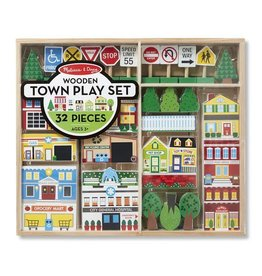 Melissa & Doug Wooden Town Playset