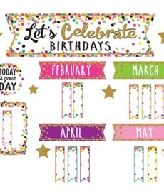 Let's Celebrate Birthdays Mini Bulletin Board