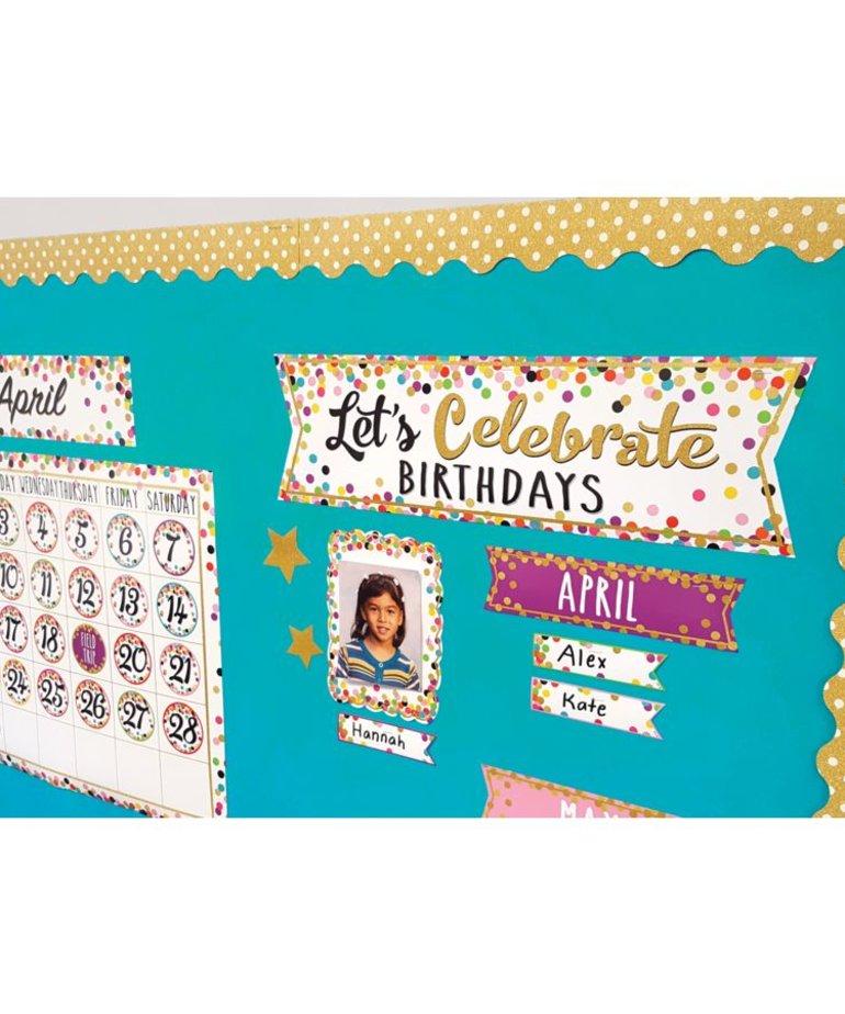 Let's Celebrate Birthdays Mini Bulletin Board