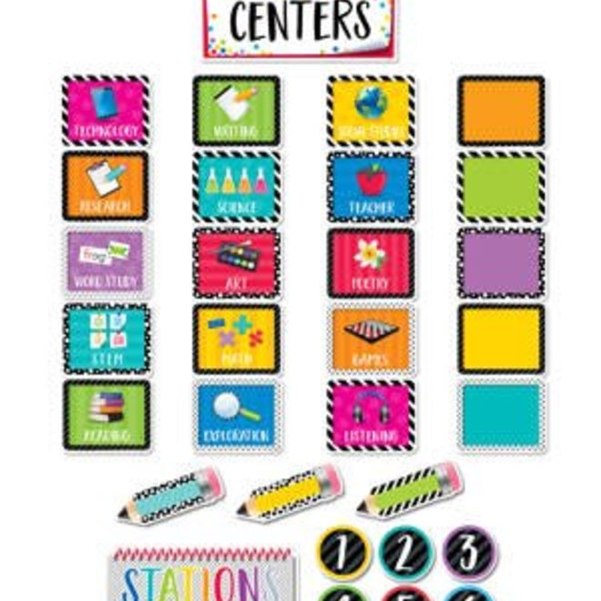 Bold & Bright Classroom Centers-Mini Bulletin