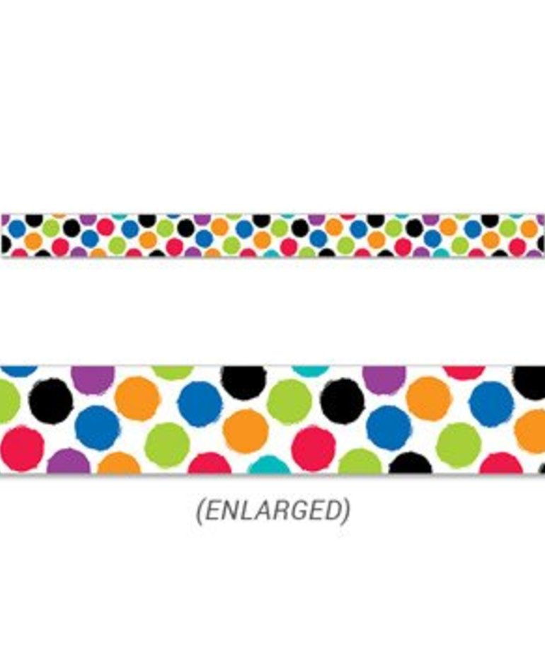 Bold & Bright Colourful Spots Border