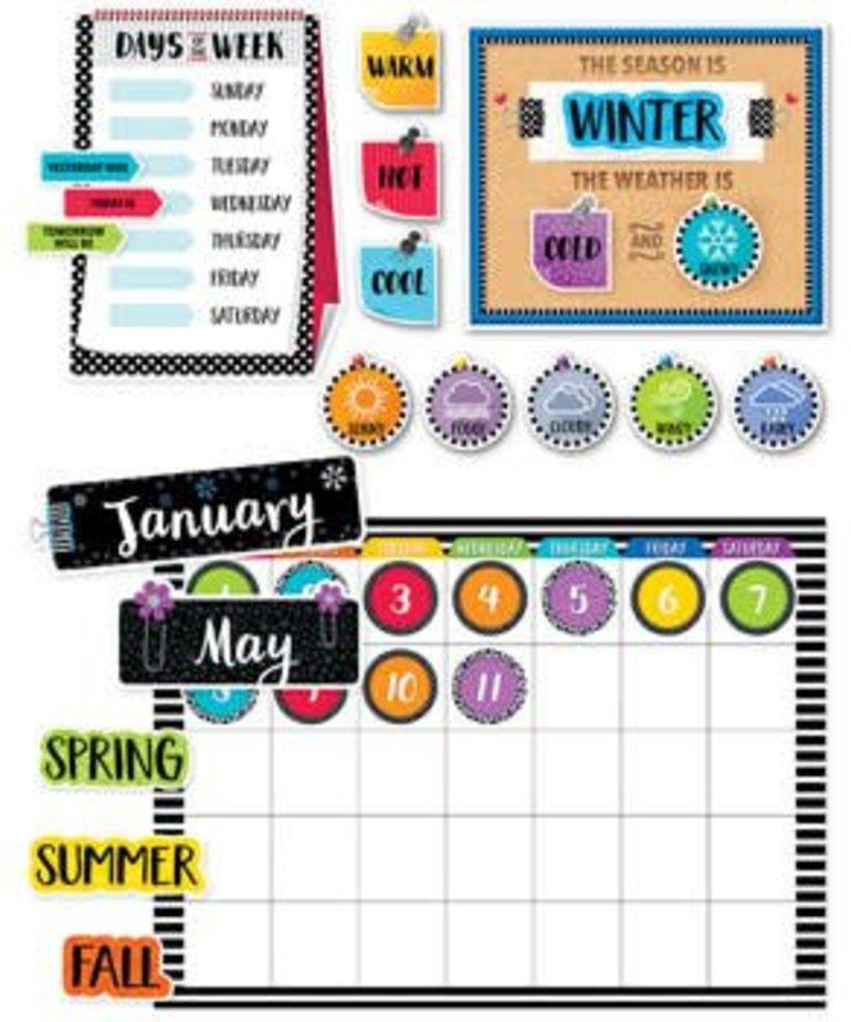 Bold & Bright Bulletin Board Calendar Set