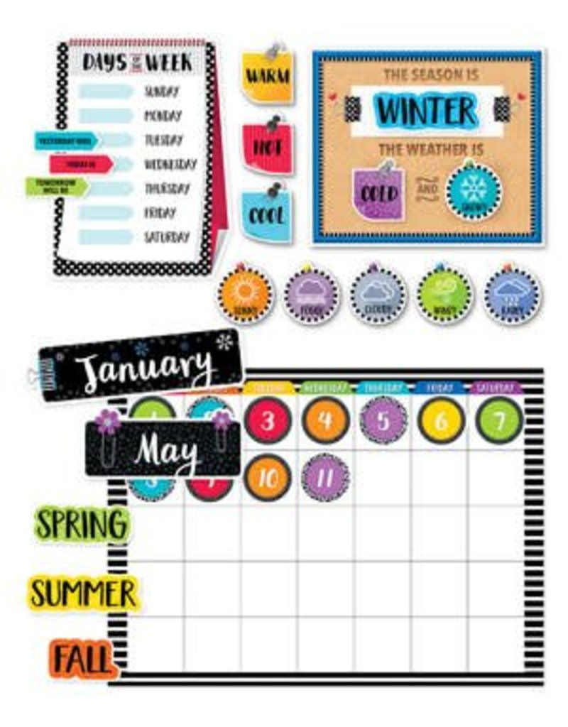Bold & Bright Bold & Bright Bulletin Board Calendar Set
